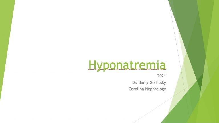Dr. Gorlitsky Chronic Hyponatremia Talk 2021